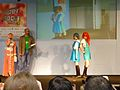 Cosplayers of Rei Ayanami and Asuka Langley Soryu at Hyper Japan 20101003.jpg