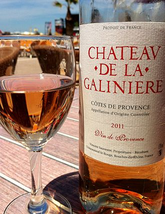 Provence wine - A rosé from the Côtes de Provence AOC.
