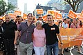 Councillor Perks, McConnell and Cressy at Labour Day Parade - 2015 (20654890653).jpg