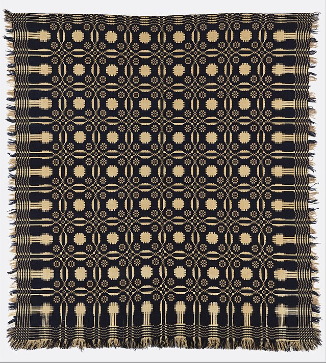 Wool And Cotton Double Cloth Coverlet, Early 19th Century, In The Cooper  Hewitt.