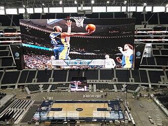 AT&T Stadium - Cowboys Stadium being set up for Texas vs. North Carolina game