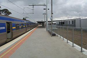 Craigieburn railway station - Image: Craigieburn railway station platform, Melbourne