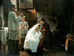 La primera y última comunión (1888). Óleo sobre tela.