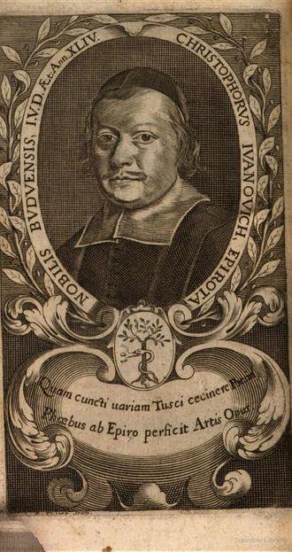 Cristoforo Ivanovich - Cristoforo Ivanovich, from Minerva al tavolino, 1680