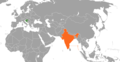 Croatia India Locator.png