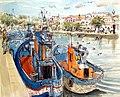 Croquis- Tavira- bateaux de pêche - Portugal (8076760758).jpg
