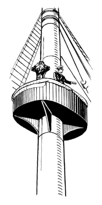 Barrelman - Manning the crow's nest.