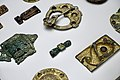 Cultural History (historisk) Museum Oslo. VIKINGR Norwegian Viking-Age Exhib. 04 Decorative mounts prod. in the British Isles in the 700s, from raids of sacred objects, refashioned as brooches, etc 800-1000 839.jpg