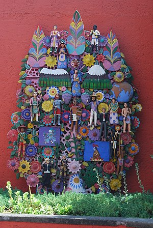Museo Nacional de Culturas Populares - Tree of Life sculpture at the museum