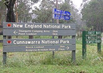 Cunnawarra National Park - Cunnawarra National Park entrance