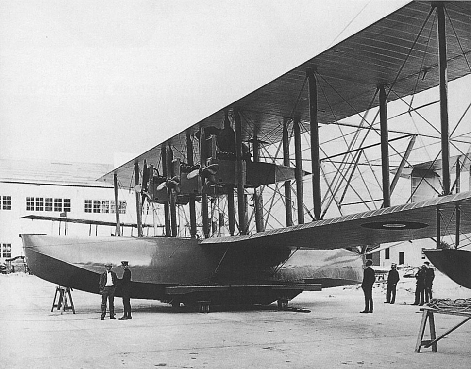 Curtiss NC-1 3 October 1918- initial three engine configuration