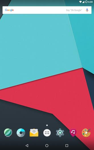CyanogenMod - Image: Cyanogen Mod 13 homescreen english