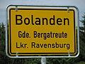 D-BW-Bergatreute-Bolanden - City limt sign.JPG