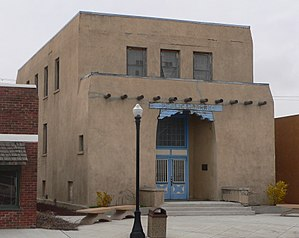 National Register of Historic Places listings in Union County, New Mexico - Image: D. D. Monroe Civic Bldg from N 1