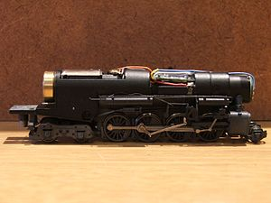 Digital Command Control - Image: DCC decoder installed in an N scale Life Like Berkshire Steam Locomotive