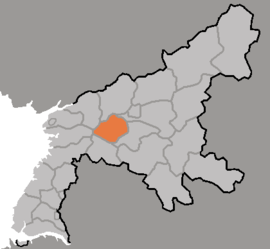Location of Sunch'ŏn