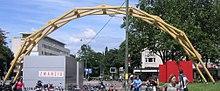 Pont arc en ciel wikip dia - Pont leonard de vinci ...