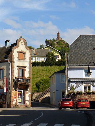 Dabo, Moselle - The rock of Dabo, seen from the village