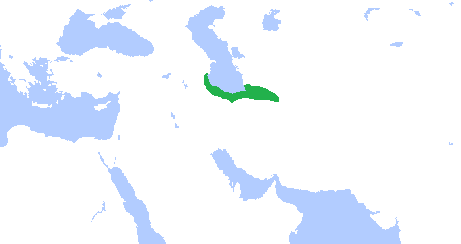 The Dabuyid dynasty around its greatest extent under Farrukhan the Great