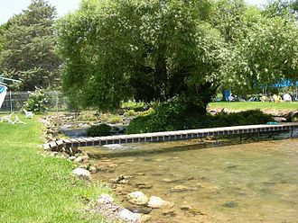Dafna - River Dan within kibbutz Dafna