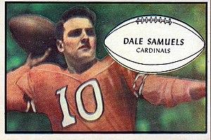 Dale Samuels - Samuels on a 1953 Bowman football card