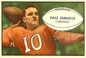Dale Samuels - Samuels on a 1953 Bowman football card
