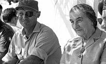 Golda Meir con Moshé Dayan, 1969