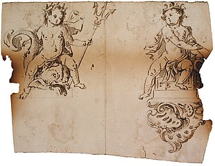 Two children, one of whom as Neptune