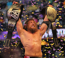 Daniel Bryan als WWE World Heavyweight Champion in april 2014