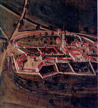 Weissenau Abbey - Weissenau Abbey in 1625