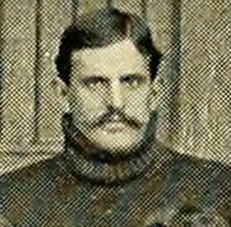 David F. Weeks - Weeks pictured in the 1898  Massachusetts Agricultural football team photo
