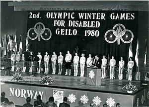 1980 Winter Paralympics - The 1980 Winter Paralympics opening ceremony