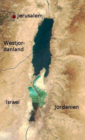 Satellitenbild des Toten Meeres