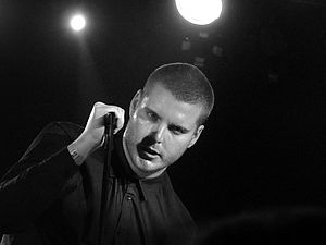 Deafheaven - George Clarke performing in Barcelona in 2012