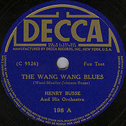 US Decca label from 1934 featuring the band of trumpet star Henry Busse.
