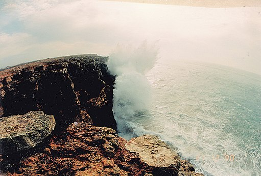 December 80 mtr waves cliff Fortaleza de Sagres End of Europe - Storm - Magic Portugal Photography 1990 - panoramio