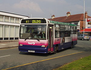 Marshall Bus - First Chester & The Wirral C37 bodied Dennis Dart in Bromborough in March 2007