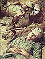 Descanso de los Afrika Korps de Alemania. WW2 German soldiers of the Afrikakorps. Resting.jpg