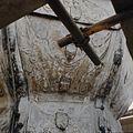 Detail van een schildering op de met lood beklede torenspits, tijdens de restauratie - Edam - 20379419 - RCE.jpg