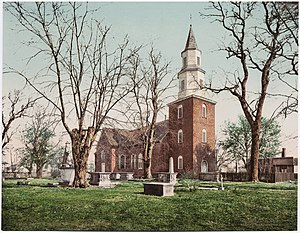 Bruton Parish Church - View of Bruton Parish Church, ca. 1902