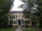 The Dickinson Homestead as it appears today. In 2003 it was made into the Emily Dickinson Museum.