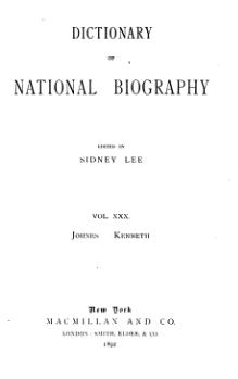 Dictionary of National Biography volume 30.djvu