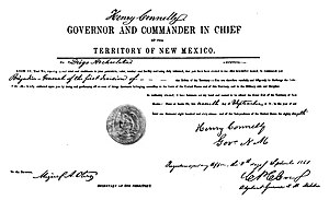Diego Archuleta - Diego Archuleta's appointment to Brigadier General of the 1st Division of the Territory of New Mexico Militia by Governor Henry Connelly, Sep 9, 1861