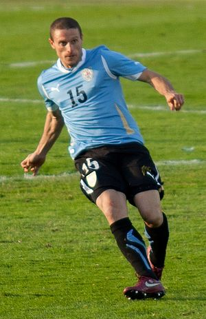 Diego Pérez (footballer) - Pérez playing for Uruguay in 2011