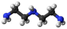 Ball and stick model of diethylenetriamine