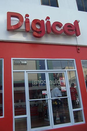 Digicel - A Digicel storefront in Castries, Saint Lucia, in 2012