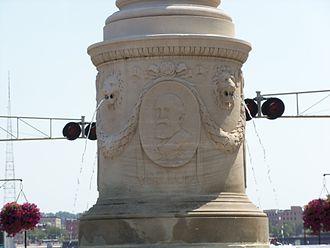 Dillon Memorial - Dillon bas-relief
