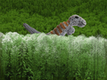 Dinosaur finger puppet in jungle scene.png