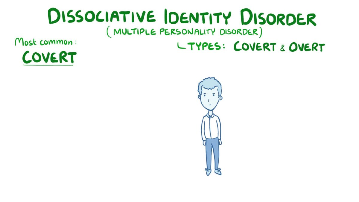 dissociative disorder Read about dissociative identity disorder (formerly multiple personality disorder or split personality disorder) causes, diagnosis, treatment, and prognosis did symptoms include memory lapses, blackouts, feeling unreal, and losses of time.