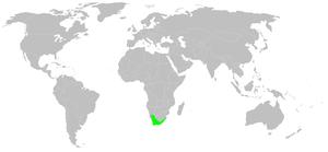 Leucadendron - Image: Distribution.leucade ndron